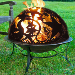 Orion Dome with Fire Pit - The intricate detailing on the Orion Dome with Fire Pit will encourage your friends and family to stargaze late into the night through the year. -Mantels Direct