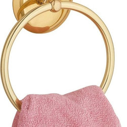 """Renovators Supply - Towel Rings Bright Brass Towel Ring 6""""  Dia - Part of our Nantucket collection, this towel ring is an elegant place to place your towels. Diamter of ring is 6"""". Brass finish."""