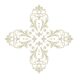 "Stencil Ease - Amiens French Heritage Accent Corner Stencil - Amiens French Heritage Stencils You can use this Decorating Stencils Kit to create your own patterns all over your wall or Floor. Quickly and easily create French historical ambience in your home! This detailed elegant laser-cut stencil is a decorators delight for creating intricate patterns on walls and floors. The laser cutting produces crisp clean smooth edges allowing this stencil to deliver professional-grade results. Whether you are using a high-density foam roller and latex paints or your choice of sponges brushes and rags this stencil design is guaranteed to please the eye when finished. We suggest you visit you your local paint store for color ideas using contrasting background/stencil colors or even trying a satin or semi-gloss urethane (over a previously painted/stained surface) for a very subtle effect. Our new low-tack adhesive backed material is perfect for floor stenciling. This film works well on walls as well however we recommend testing a small section of the wall to ensure the paint is well cured and the low-tack adhesive will not remove any paint. You can also stick the adhesive backed material to a piece of fabric or sheet of cardboard several times to remove some of the tack level before using on a painted wall. 5 piece Amiens Designer Complete Kit Contains: 1 - SWP0117 Amiens Wall and Floor Stencil - 19.5"" x 19.5"" stencil sheet 1 - SAC0117 Amiens Accent Corner Stencil - 10"" x 10"" stencil sheet 1 - SAS0117 Amiens Accent Spot Motif Stencil - 10"" x 10"" stencil sheet 1 - SHV0117 Amiens Accent Border Stencil - 6"" x 18"" stencil sheet 1 - T7602 2 inch HIGH-DENSITY Foam Roller with 8"" handle"