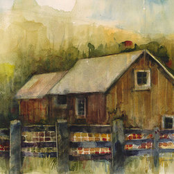 """""""Barn"""" (Original) By Dorrie Rifkin - I Enjoy Friends, Family, Travel, Art And Good Music. No Matter Where I Go, I Always Remember To Take My Sketchbook And/Or Camera. The Opportunity For Inspiration Can Be Found In Surprising Places."""