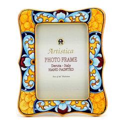 Artistica - Hand Made in Italy - Photo Frame: Deruta Vario Celeste - Deruta Photo Frames:
