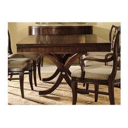 Hekman Furniture - Metropolis Rectangular Dining Table - One 20 in. self storing extension leaf. Mahogany solids. Warranty: One year. Made from select hardwood solids and veneers. Metropolis finish. Minimum: 80 in. L x 46.25 in. W x 30 in. H. Maximum: 100 in. L x 46.25 in. W x 30 in. H