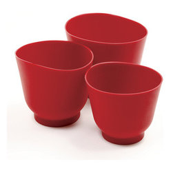 Silicone Bowl 3-Piece Set, Red - Where have these been all my life? These silicone bowls are lightweight and flexible, making everything about handling a bowl for food prep easier.