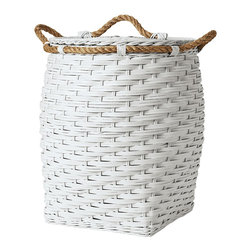Rope Hamper, White - Does laundry seem to be taking over your child's bedroom? Keep dirty clothes at bay with this bin. It's perfect for hauling back and forth to the laundry room.