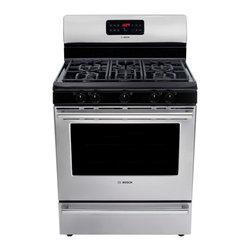"Bosch 300 Series 30"" Gas Freestanding Range, Stainless Steel 