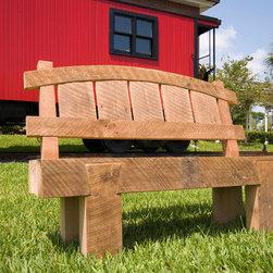 rustic bench - tom elman