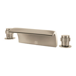 MR Direct - MR Direct 719-BN Brushed Nickel Roman Tub Faucet Set - The 719-BN Roman Tub Faucet Set is the ultramodern choice in bathtub fixture designs. Water gently cascades into the tub along the entire seven-inch width of this extraordinarily sleek spout. Dual handle controls install on either side and match the faucet's European styling. The 719-BN presents an attractive bath experience whether installed in the chrome, brushed nickel, or oil-rubbed bronze finish. Solid brass construction assures that this unit will last and our testing proves it. With ADA approval we confidently offer a limited lifetime warranty.