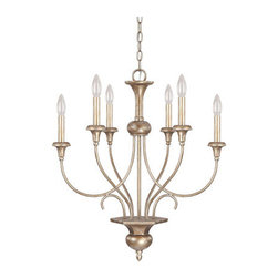 Capital Lighting Fixture Company - Ansley Sable Six Light Chandelier- Without Shades - - Chain Length (feet):10  - Wire Length (feet):15  - Canopy Length (in.):5.4  - Canopy Width (in.):5.4  - Canopy Extension (in.):1.65  - Full Fixture Lamping:6-60W-C  - UL Listed. Rated for Dry Environments. Capital Lighting Fixture Company - 4666SA-000