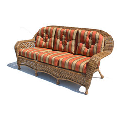 Montauk Outdoor Wicker Sofa, Natural