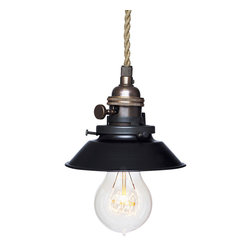 "Hammers & Heels - Farmhouse 4 & 3/4"" Cone Shade Pendant Light- Oil Rubbed Bronze - The Farmhouse Collection is petite with a punch of style these metal cone shade pendant lights add a vintage feel to any space."