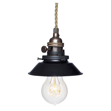 """Hammers & Heels - Farmhouse 4 & 3/4"""" Cone Shade Pendant Light- Oil Rubbed Bronze - The Farmhouse Collection is petite with a punch of style these metal cone shade pendant lights add a vintage feel to any space."""