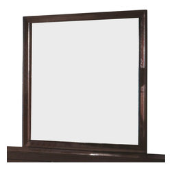 "Coaster - Coaster Calvin Framed Mirror in Cappuccino Finish - Coaster - Mirrors - B205M - Simple with a transitional design decorate your bedroom with the Calvin Dresser Mirror. Featuring a wood frame a rich cappuccino finish brings a classic look to the mirror's design. Paneling on the frame edges lends visual depth and dimension making this mirror a truly transitional piece to finish off your bedroom. Pair with the Calvin Dresser for a complete vanity set.Rich cappuccino finishMade from Wood Veneers & SolidsSpecifications:Overall product dimenssions: 35.5""H x 1""W x 38.25""D"