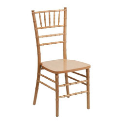 "Flash Furniture - Flash Elegance Supreme Natural Wood Chiavari Chair - If you've been to a wedding, chances are you've sat in a Chiavari chair. Chiavari Chairs have become a classic in the event industry and are also highly popular in high profile entertainment events. This chair is used in all types of elegant events due to its lightweight, stacking capabilities and elegant design. Keep your guests comfortable with optional cushions and keep your chairs beautiful with optional chair covers.; 1100 lb. Static Load Weight Capacity; Wood Chiavari Chair in Natural Finish; High Quality Hardwood Frame; Reinforced Stress Points provide Greater Stability, Safety and Durability; Reinforced Stress Points provide Greater Stability, Safety and Durability; Durability ensured with Steel Flat Socket Cap Screw and Lockout; Special 45° Joints Installed on bottom of front seat section for Extra Stability; Stacks up to 10 High; Constructed for Indoor and Outdoor Events; 2 Year Limited Warranty on Frame; 1 Year Limited Warranty on Seat Cushion; Ships Fully Assembled; Weight: 10 lbs; Overall Dimensions: 16.25""W x 17""D x 36.25""H"
