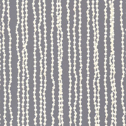 Astek - Astek Shadows on the Wall White Pearls on Gray Wallpaper - Classic Pearls. Layer on some stunning style with Astek's Shadows on the Wall White Pearls on Gray Wallpaper. Perfect for fashion-forward trendsetters, this vinyl wallpaper features a dove-gray background with a whimsical white pearl-strand pattern running from top to bottom. It evokes the classic elegance of Coco Chanel for a look that's undeniably feminine. Pair it with dusty pinks and creamy whites for a soft, romantic look, or let it add an opulent touch to an eclectic space.Designed by Annet Van EgmondMade in the USA