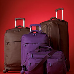 """Lipault - Lipault 28"""" Four-Wheel Trolley - Ultra-lightweight luggage comes in easy-to-identify bright colors. Select color when ordering. Made of nylon/polyester. 3-year warranty. Combination lock and luggage tag included. 19""""W x 10""""D x 28""""T with 18.5"""" telescope handle; weighs 8.1 lbs. Imp..."""