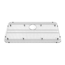 American Standard - Prevoir 29 x 15-inch Stainless Steel Kitchen Sink Grid - This optional wire bottom grid sink rack has an opening for a sink strainer and helps to protect the bottom of the sink from scratches. The grid is composed of quality stainless steel.