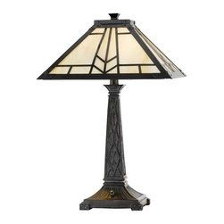Cal Lighting - Cal Lighting BO-2096TB Tiffany 2 Light Pedestal Base Table Lamp - Features: