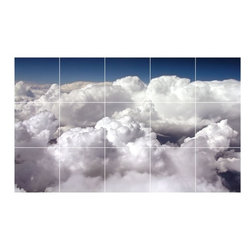 Picture-Tiles, LLC - Sky Clouds Photo Wall Back Splash Tile Mural  18 x 30 - * Sky Clouds Photo Wall Back Splash Tile Mural 1440