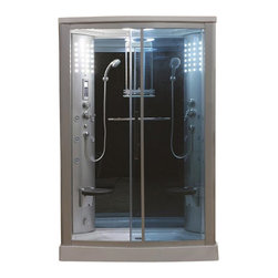 Eagle Bath - Eagle Bath 54 Inch Steam Shower Enclosure Unit - Clear Glass - Unit must be hardwired to a dedicated 110v line with GFCI breaker. Electric Voltage - 110v, 60HZ. Electric Current - 30A for Steam Generator. Steam Generator - 3KW. Hot & cold valve pipe size - 1/2 Inch. Overheat protection (the steam generator will be shut down automatically if the temperature of the box gets too hot). No water protection (if there is no water in the steam generator, it will shut down immediately). Flexible drain hose - Approximately 3ft long (If you are using the flexible drain hose, you should have your waste hole 1.6 ft away from the drain hole at the bottom of your acrylic base).