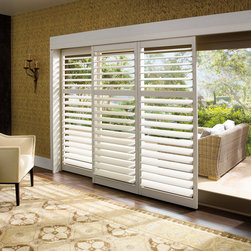 Palm Beach™ polysatin shutters with Lantana™ - Hunter Douglas Custom Shutter Collection Copyright © 2001-2012 Hunter Douglas, Inc. All rights reserved.