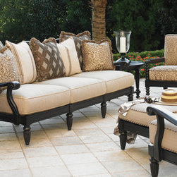 Kingstown Sedona Collection by Tommy Bahama - The Kingstown Sedona collection is by far one of Tommy Bahamas most elegant and rich collections. Inspired by Sedona, Arizona the collection features a rich ebony finish with bronze highlights and is cast in all--weather aluminum from a hand-carved mold.