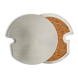 Hatch Hub - Stainless Steel Broach Coasters (set of 4) - A very smart coaster which also functions as a bottle opener. Sold as a set of four. Grab, Broach, Enjoy!