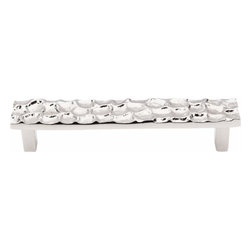 Top Knobs - Top Knobs: Cobblestone Pull 5 1/16 Inch (C-C) - Polished Nickel - Top Knobs: Cobblestone Pull 5 1/16 Inch (C-C) - Polished Nickel