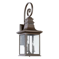 Quorum Lighting - Quorum Lighting Magnolia Traditional Outdoor Wall Sconce X-68-3-3407 - Magnolia 3-Light Wall Sconce - Oiled Bronze