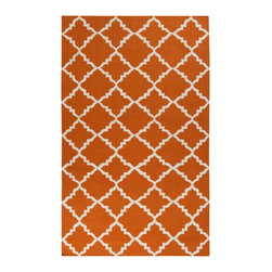 Surya - Surya Frontier FT-448 (Burnt Orange) 5' x 8' Rug - Frontier Collection features a series of flat-weave reversible designs with tribal and casual themes. Hand woven in India, these rugs are produced from the finest wool with unique patterns designed to enrich any room. Fashionable, durable and affordable, these styles are sure to update any decor.
