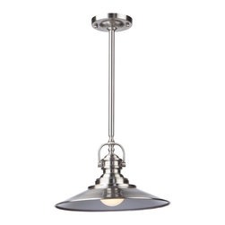 Artcraft Lighting - Artcraft Lighting AC1471SN Brushed Nickel 1 Light PendantHeath Collection - Classic styling never goes out of style.