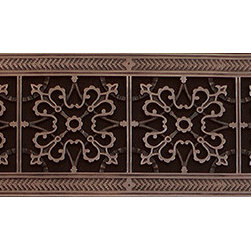 "Beaux-Artes, Ltd - Arts & Crafts style decorative grille, vent, grate or register, Rubbed Bronze, 8 - HVAC Grille made to fit over a 6"" x36"" duct. Beaux-Artes is the leading manufacturer of historic reproduction grilles made to replace unattractive louvered grilles, registers, vent covers, air return grilles, air return vent covers, and filter grilles found in forced air HVAC systems, as well as decorative covers for in the wall or ceiling speakers, foundation vents, radiator covers and T-Bar ceiling grilles."