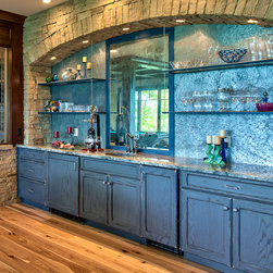 Advance Cabinetry- Custom Cabinetry - Advance Cabinetry- New project with custom colors and great glass shelf's
