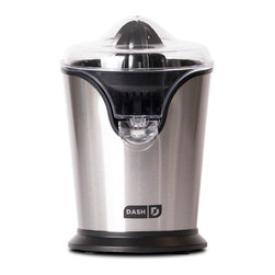 Storebound - Dash Citrus Juicer - The automatic on/off function makes juicing easy  simply press the fruit down to start, release to stop. Easy assembly/disassembly makes cleanup a breeze: All the non-electric parts are dishwasher safe.