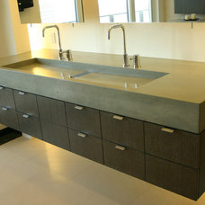 modern bathroom sinks by Concreteworks