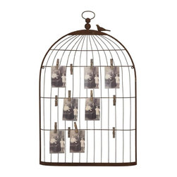 Home Decorators Collection - Birdcage Card Holder - I love this photo collage birdcage. You can add your own vintage-y clothespins to hang photos or even use it as an inspiration board.
