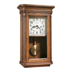 Howard Miller - Howard Miller Key Wound Westminster Chime Oak Wall Clock | SANDRINGHAM - 613108 Sandringham