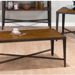 Jofran Glenna Elm Rectangular 3 Piece Coffee Table Set