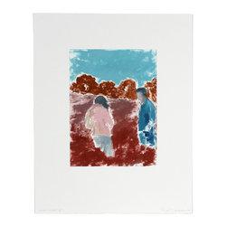"""Lost Art Salon - """"Open Fields"""" III Original Rob Delamater Abstracted Couple Landscape, 2014 - """"Open Fields"""" III Original Rob Delamater Abstracted Couple in Landscape, 2014"""