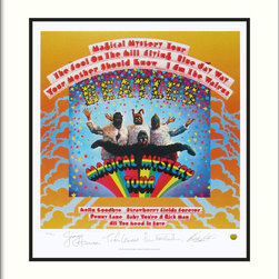 None - The Beatles: Magical Mystery Tour (Album Cover)' Framed Art Print - Title: The Beatles: Magical Mystery Tour (Album Cover)Frame: 0.75-inch Wide Black Satin Deep ProfileProduct type: Framed Print