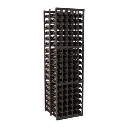 Wine Racks America - 5 Column Double Deep Cellar in Redwood, Black + Satin Finish - Get double the wine storage capacity without using more of your walls. Fit 15 cases of wine on less than 2 ft of wall space. Designed for beauty and functionality, this rack will satisfy your needs and withstand the test of time. We guarantee it.