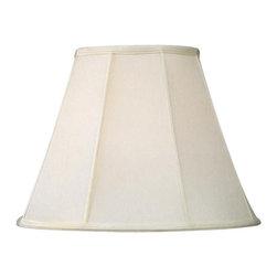 Livex Lighting Inc - Livex Silk Lamp Shade Off White Shantung Silk Empire Shade -S503 - Washer Top Fitter