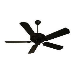 Craftmade - CXL 52 in. Fan in Flat Black w Matching Stand - Fan Specs:. Heavy-Duty, 3 Speed Reversible Motor. 2 in. and 6 in. Downrods (Included). Meets Energy Star Energy Efficiency Standards. Number of Fan Blades: 5. Blade Pitch: 14°. Motor Size: 188 x 15mm. High Speed Amps: 0.7. RPM (Hi-Med-Low): 210-120-78. Airflow (Cubic FT/MIN): 6503. Electricity Use: 76 Watts. Airflow Efficiency (Cubic FT/Min/Watt): 86. Blade Specs:. Blade Length: 52 in.