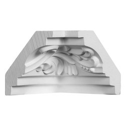 """Ekena Millwork - 2 3/4""""P x 2 3/4""""H Inside Corner for Moulding MLD02X02X04TN - Our beautiful panel moulding and corners add a decorative, historic, feel to walls, ceilings, and furniture pieces. They are made from a high density urethane which gives each piece the unique details that mimic that of traditional plaster and wood designs, but at a fraction of the weight. This means a simple and easy installation for you. The best part is you can make your own shapes and sizes by simply cutting the moulding piece down to size, and then butting them up to the decorative corners. These are also commonly used for an inexpensive wainscot look."""