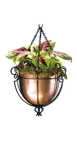 H Potter - Hanging Basket - You may be far from Babylon, but you can get your own hanging garden of sorts with this classic planter. It's striking in black and copper with a scrolled metal frame surrounding the planter's bowl. Hang seven and show the wonders of your world.