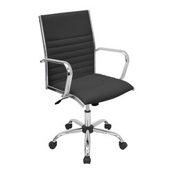 "Lumisource - Master Office Chair, Black - 21.75"" L x 23"" W x 37.75 - 41.5"" H"