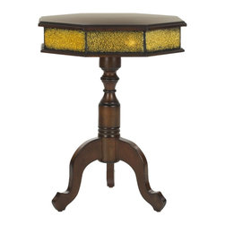 Safavieh - Daphne Side Table - The octagonal table has long been a staple of the traditionally appointed interior, and the classic geometric style, decorative finish and vintage look of the Daphne side table's solid birch wood construction lend instant character to any room.