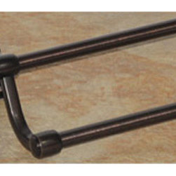 Top Knobs - Top Knobs Stratton Bath 30 in. Double Towel Rod - Top Knobs Stratton Bath 30 in. Double Towel Rod   Cabinet Hardware