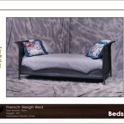 French Sleigh Bed -