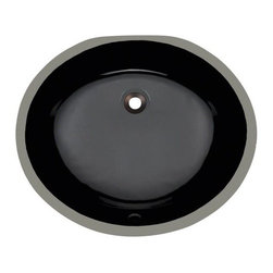 PolarisSinks - Polaris Pupm-BL Black Undermount Porcelain Bathroom Sink - Our extensive line of porcelain sinks will compliment any decor from the traditional to the unique. Our porcelain sinks are true vitreous china with a triple laid glaze to create the strongest sink you will find. Our porcelain sinks are extremely low maintenance. Our porcelain sinks are covered by a Limited lifetime warranty. Each comes with a cardboard cutout template and mounting hardware.