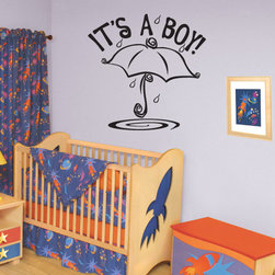 It's a Boy!  Vinyl Wall Decal ce026itsaboyviii, Matte White, 72 in. - Vinyl Wall Quotes are an awesome way to bring a room to life!